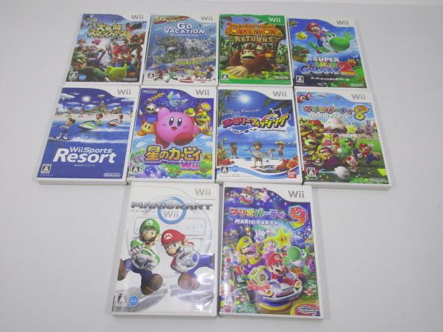 K038-000100-s3008k [送料850円]【ジャンク】Wii ソフト 10本セット マリオパーティ9 他_画像2