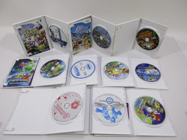 K038-000100-s3008k [送料850円]【ジャンク】Wii ソフト 10本セット マリオパーティ9 他