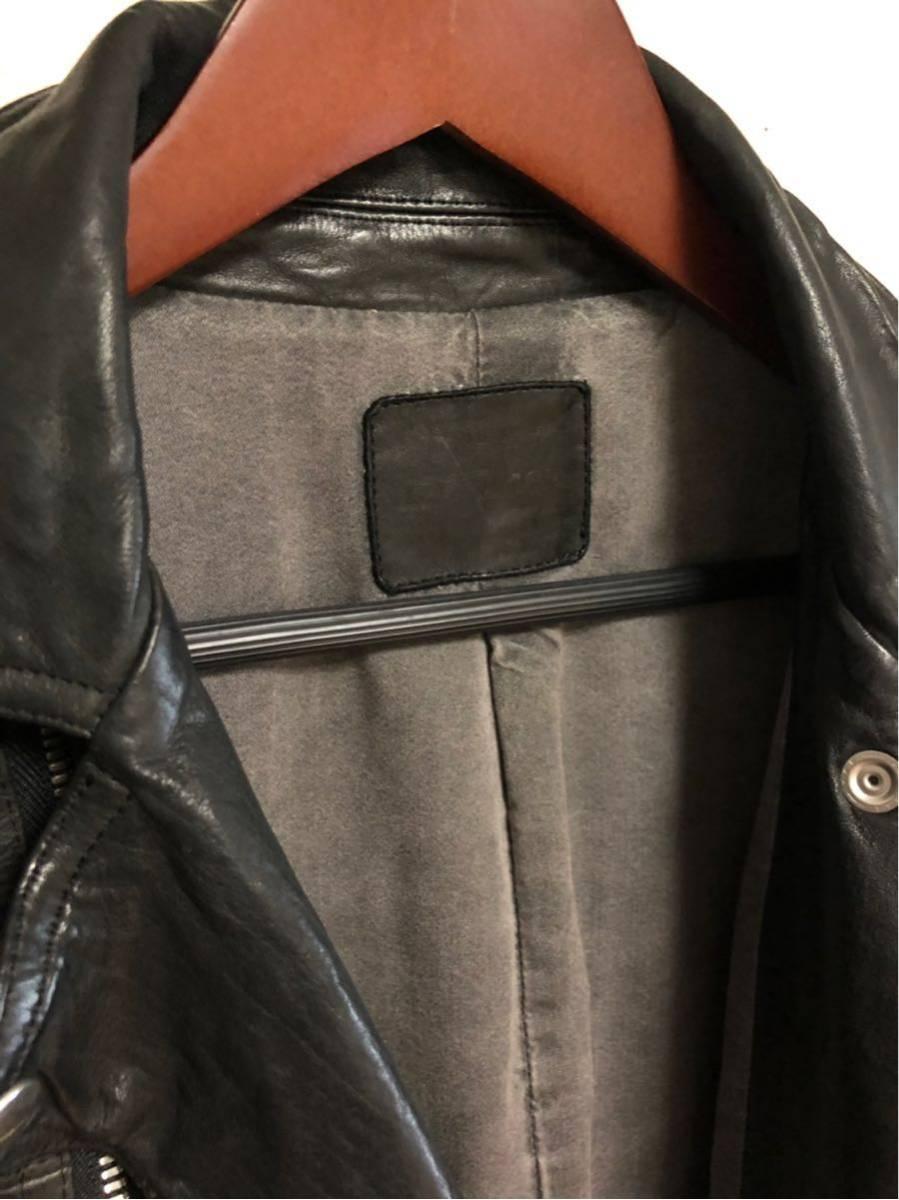 サンプル品 イサムカタヤマ BACKLASH(バックラッシュ)製品染めWライダースジャケット サイズM ISAMU KATAYAMA_画像6