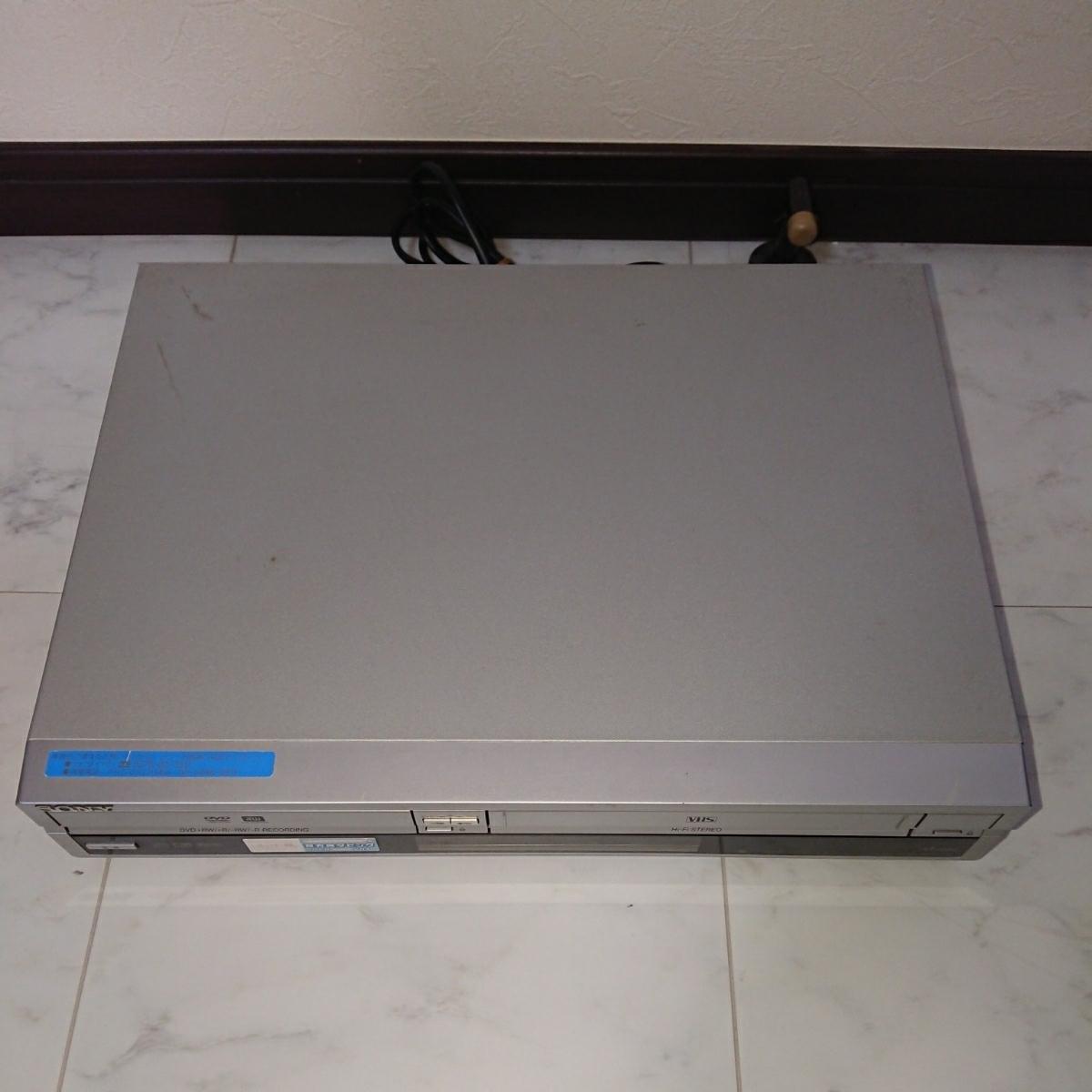 SONY ソニー DVD/VHS レコーダー RDR-VX30 リモコン付き ジャンク品 _画像2