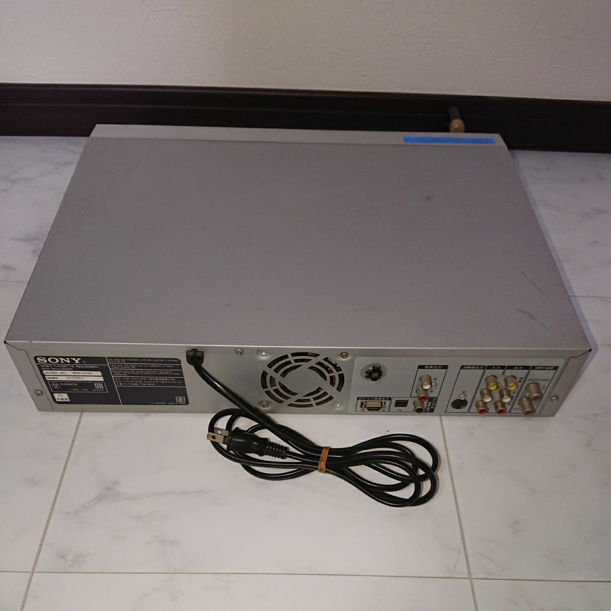 SONY ソニー DVD/VHS レコーダー RDR-VX30 リモコン付き ジャンク品 _画像3