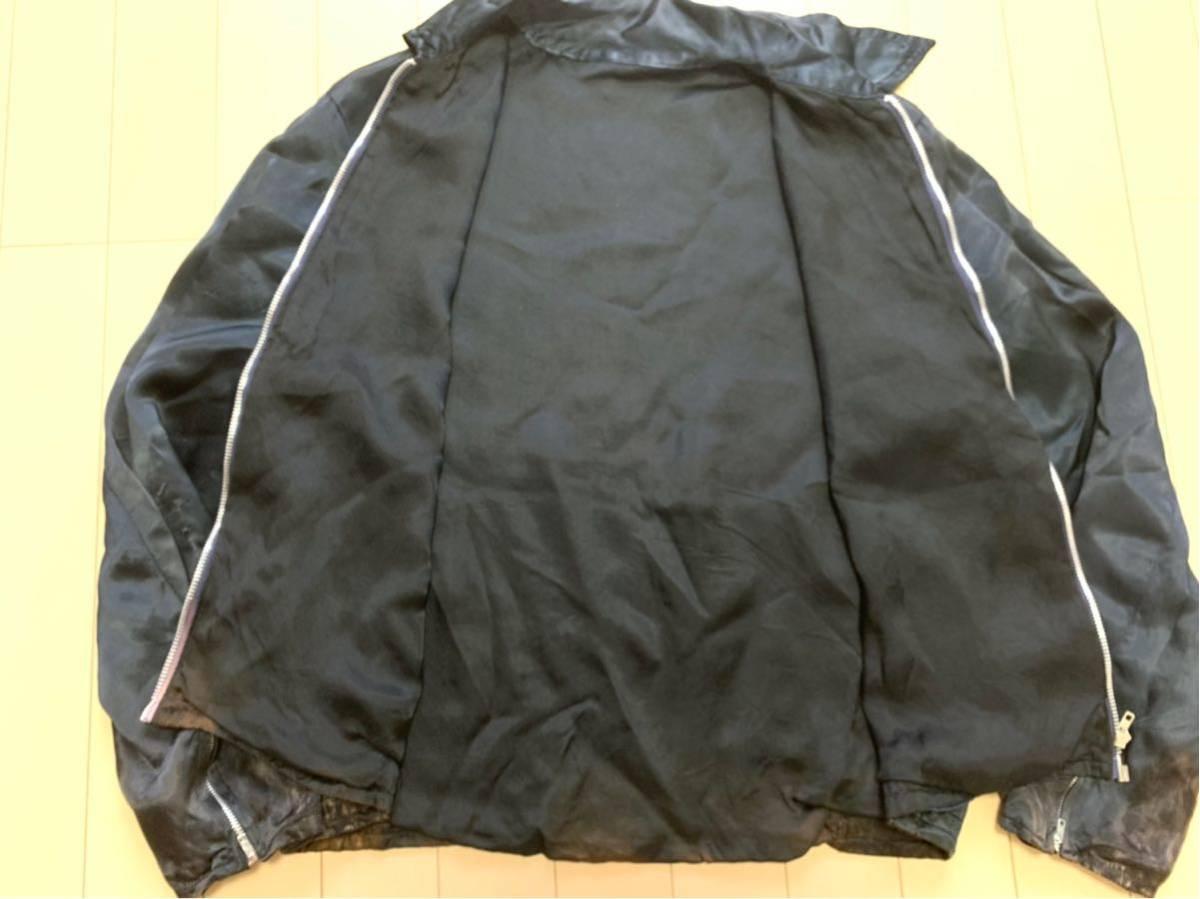 70's スーベニアジャケット ツアージャケット / ビンテージ 70年代 オリジナル 刺繍 60's ベトジャン スカジャン 50's サテン 40's _画像6