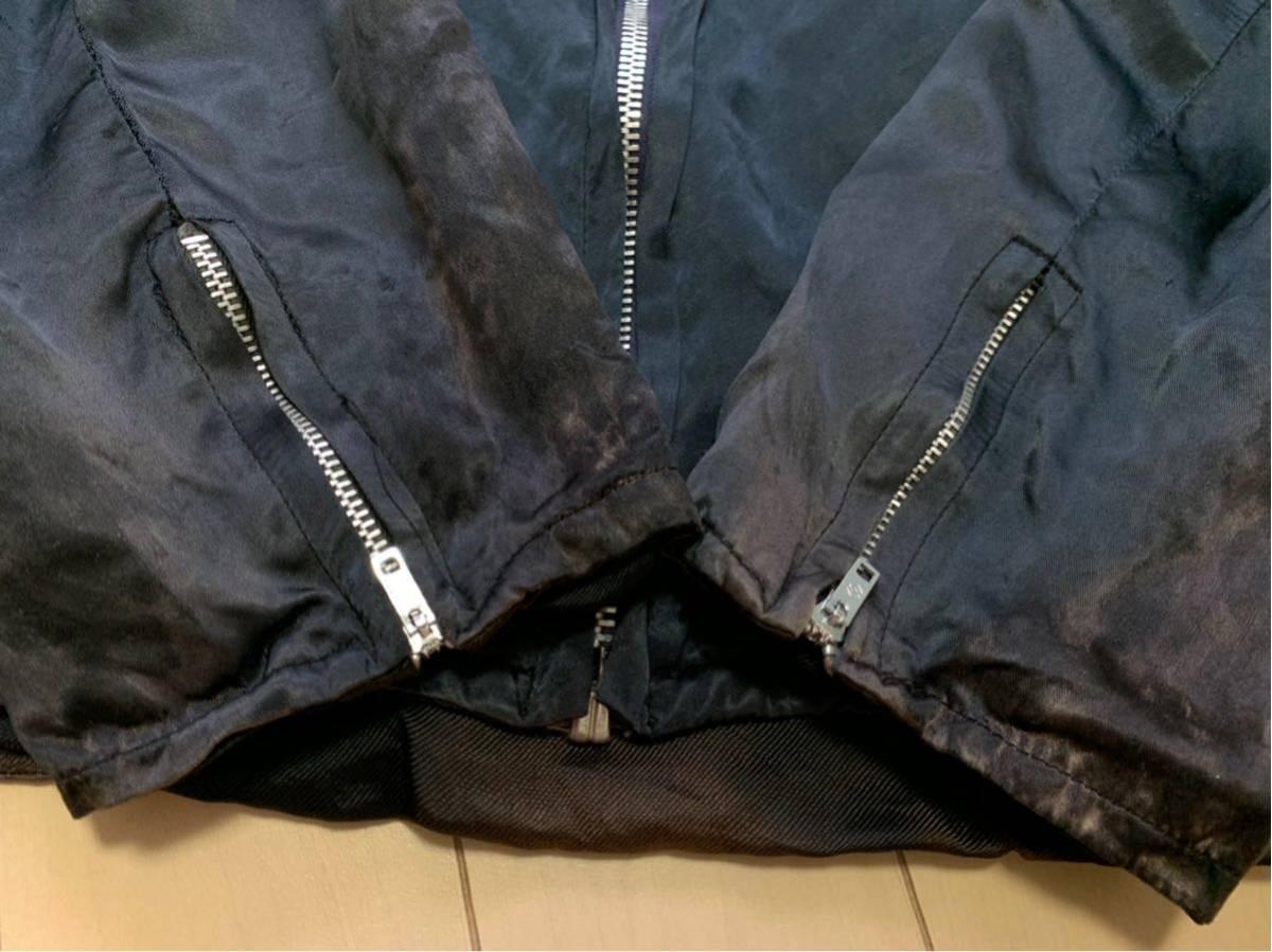 70's スーベニアジャケット ツアージャケット / ビンテージ 70年代 オリジナル 刺繍 60's ベトジャン スカジャン 50's サテン 40's _画像8