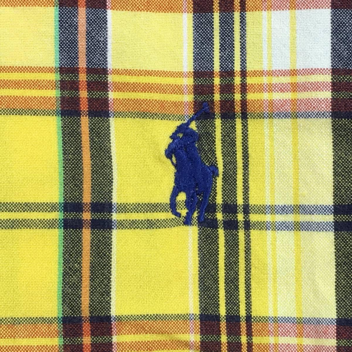 美品【Ralph Lauren ラルフローレン】拘りのインド綿 マドラスチェック「CLASSIC FIT」半袖シャツ LL 大きめ メンズ ゆったり_画像3