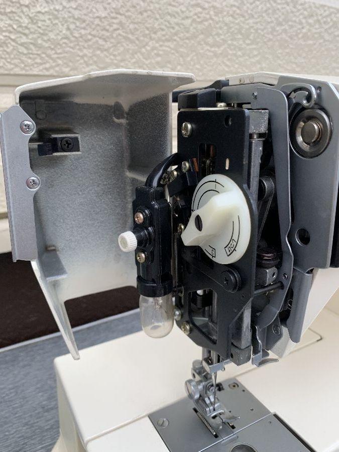 JANOME ジャノメ MEMORIA メモリア 5001型 電動ミシン コンピューターミシン 完全動作品 美品 フットコントローラー、糸付 _画像8