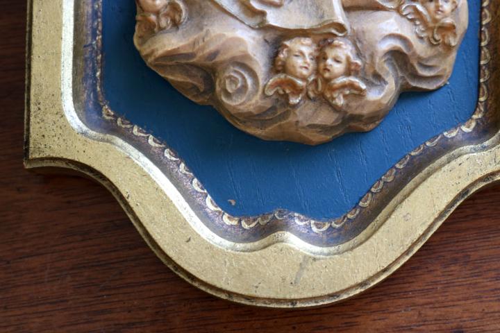 ■ ANRI/アンリ工房、木彫り聖母子の壁掛け/Sale ■_画像7