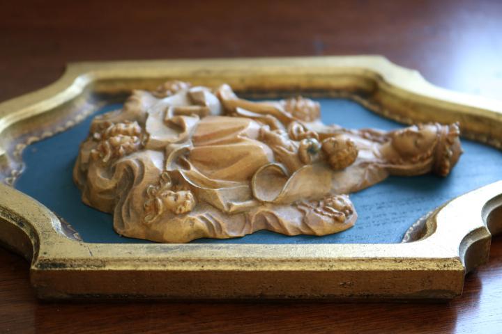 ■ ANRI/アンリ工房、木彫り聖母子の壁掛け/Sale ■_画像9