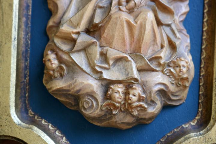 ■ ANRI/アンリ工房、木彫り聖母子の壁掛け/Sale ■_画像6