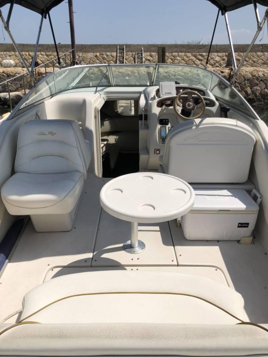 【岡山市発】 シーレイ 245 美艇 GPS 冷蔵庫付 陸上保管 陸送可 試乗可_画像3