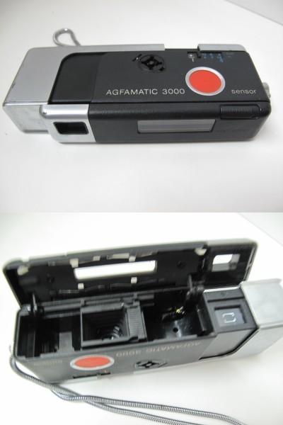 ポケットカメラ POCKET FUJICA 350 flash/AGFAMATIC 3000 ドイツ製/ミノルタ ウェザーマチック 3台セット_画像4