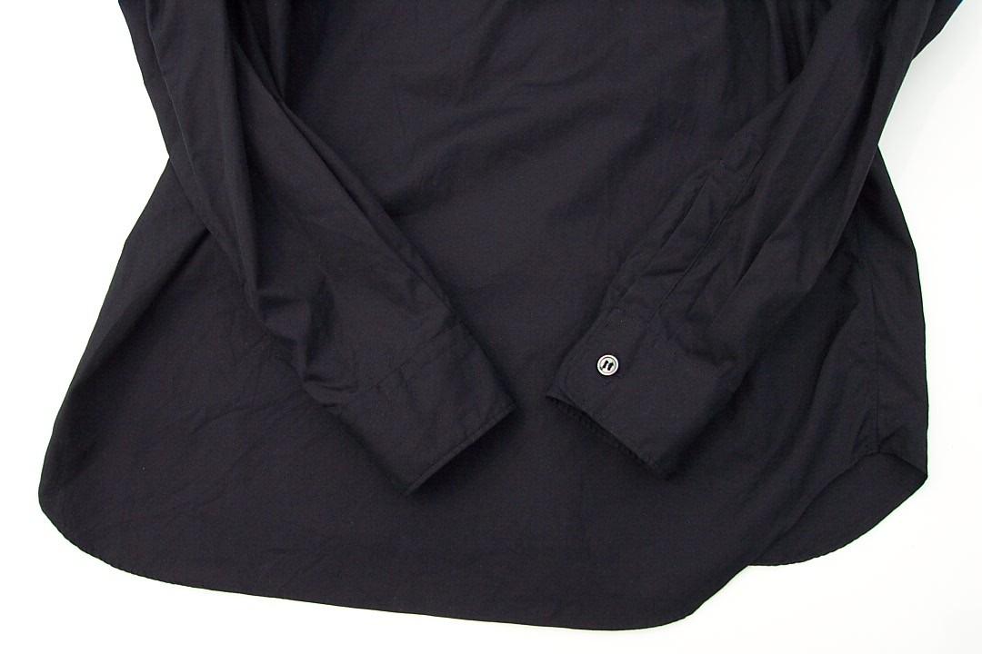 美品正規品 COMME des GARCONS HOMME PLUS コムデギャルソンオムプリュス 17SS レイヤード シャネルシャツ ノーカラー黒ブラックXS_画像7