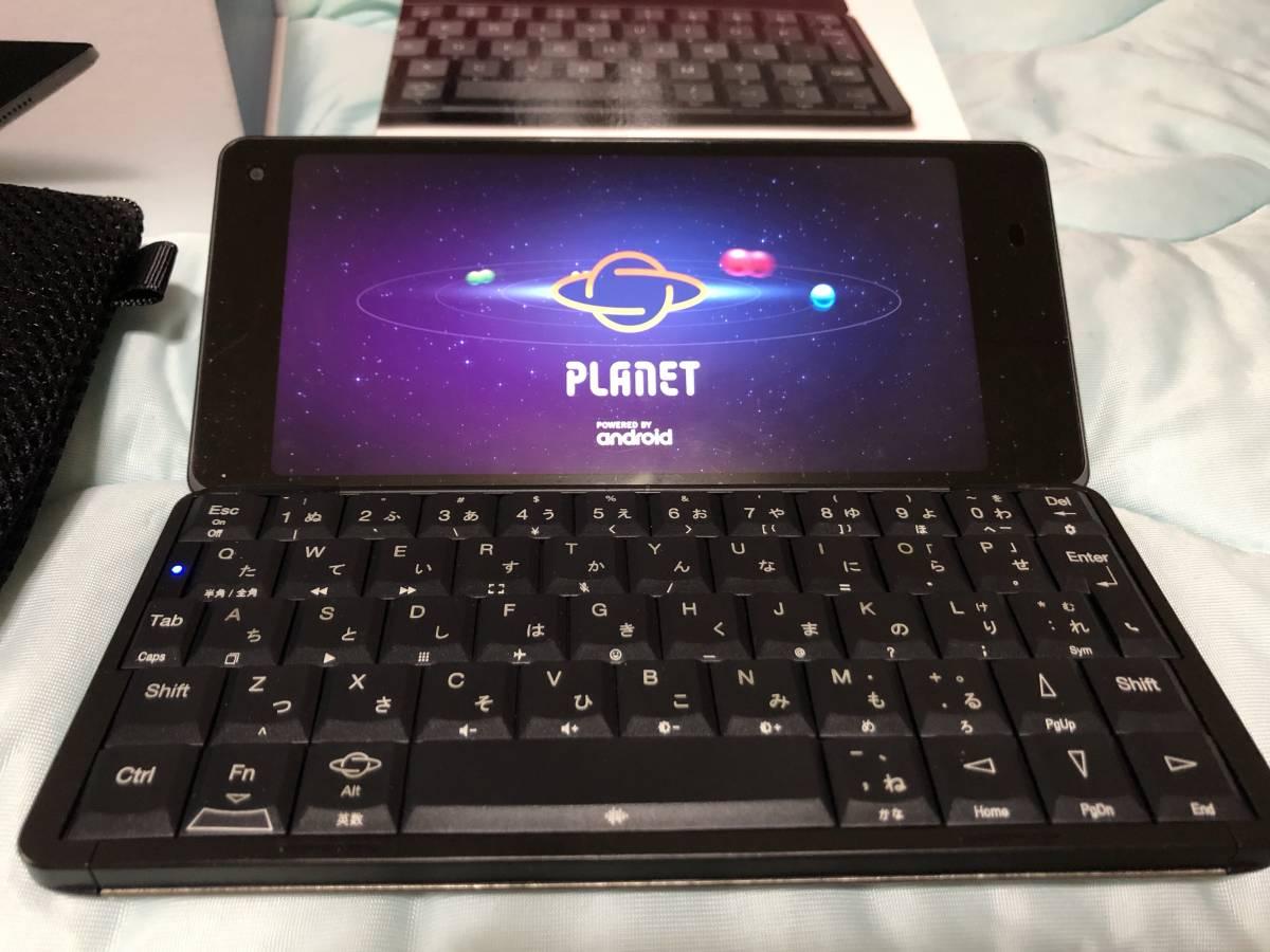 【送料込み・即決・CPUはx27】GEMINI PDA 4G&WiFi SIMフリー Planet Computers+マニュアル+ソフトケース_画像2