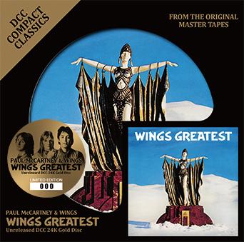 ★ WINGS GREATEST: UNRELEASED DCC 24K GOLD DISC ★ PAUL McCARTNEY & WINGS