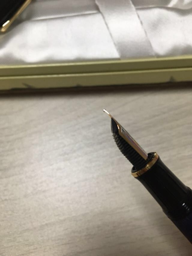 【新品未使用】ペリカン スーベレーン M400 細字 F 青縞 インク付き 万年筆_画像5