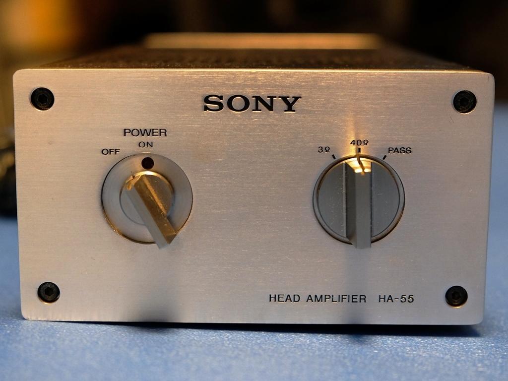 SONY MCカートリッジ用ヘッドアンプ HA-55 (中古・動作品)_画像2