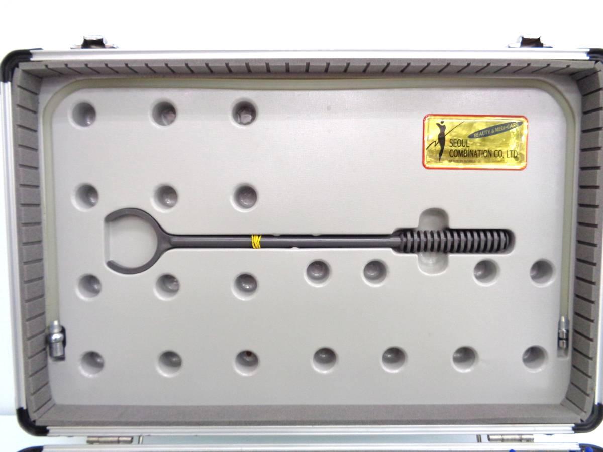 23503 プラスチック製 吸い玉 カッピングセット 吸圧器 ハードケース付き 真空 吸玉 マッサージ_画像3