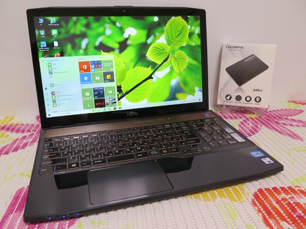 フルHD【高速Core i7(Ivy Bridge)★爆速新SSD640GB】AH77/J 富士通 ブラック 最新Windows