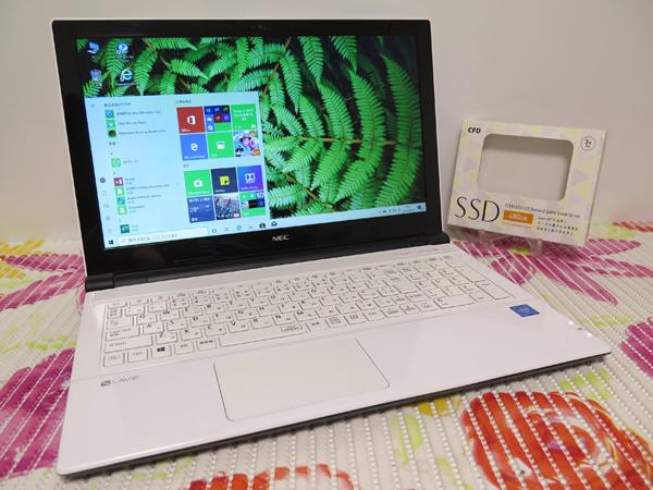 【2016年5月モデル★爆速新SSD480GB】NS150/E NEC ホワイト 高速CPU(Skylake)第6世代 最新Windows10 ★ メモリ4GB Wi-Fi HDMI Office2016