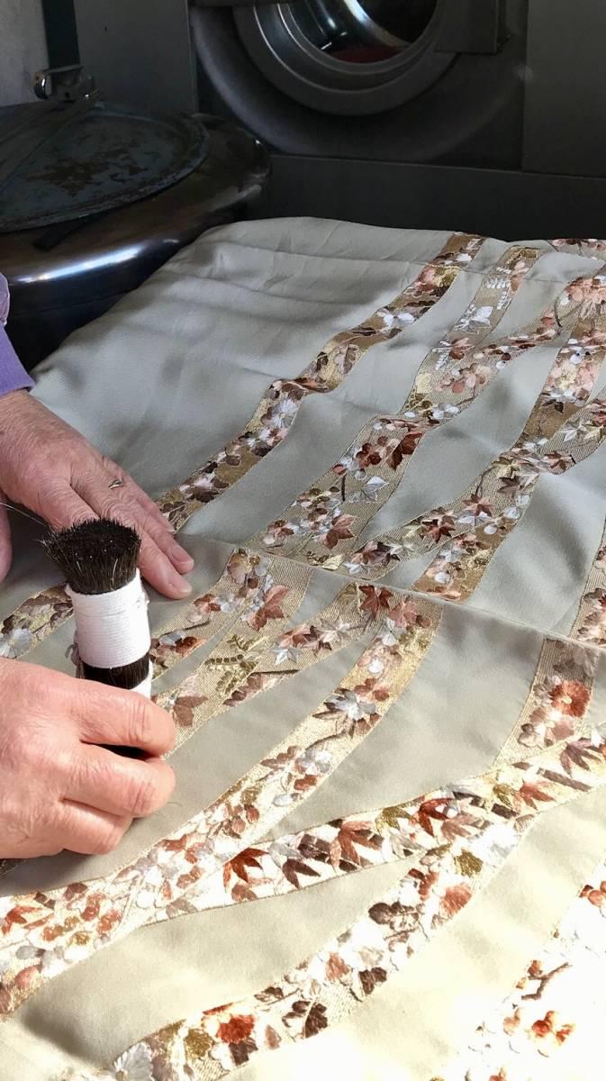 しみ抜き付丸洗い『袷羽織・袷コート』 A_作業はすべて手洗い