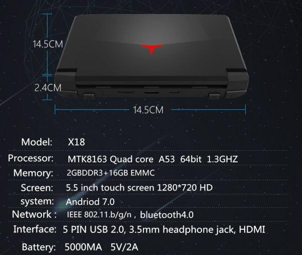 【新品】 5.5インチ 最新版ポータブルゲーム機 android7.0 WIFI機能搭載 DC/ONS/NGP/MD/アーケード エミュレーター 互換機 DG004_画像9