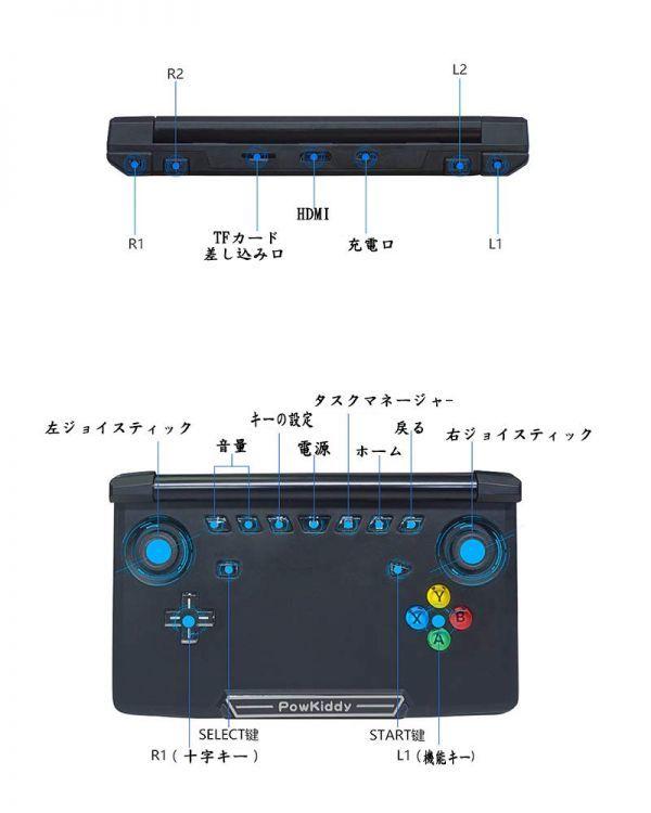★新品★ 5.5インチ 最新版ポータブルゲーム機 android7.0 WIFI機能搭載 DC/ONS/NGP/MD/アーケード エミュレーター 互換機 DG004_画像7
