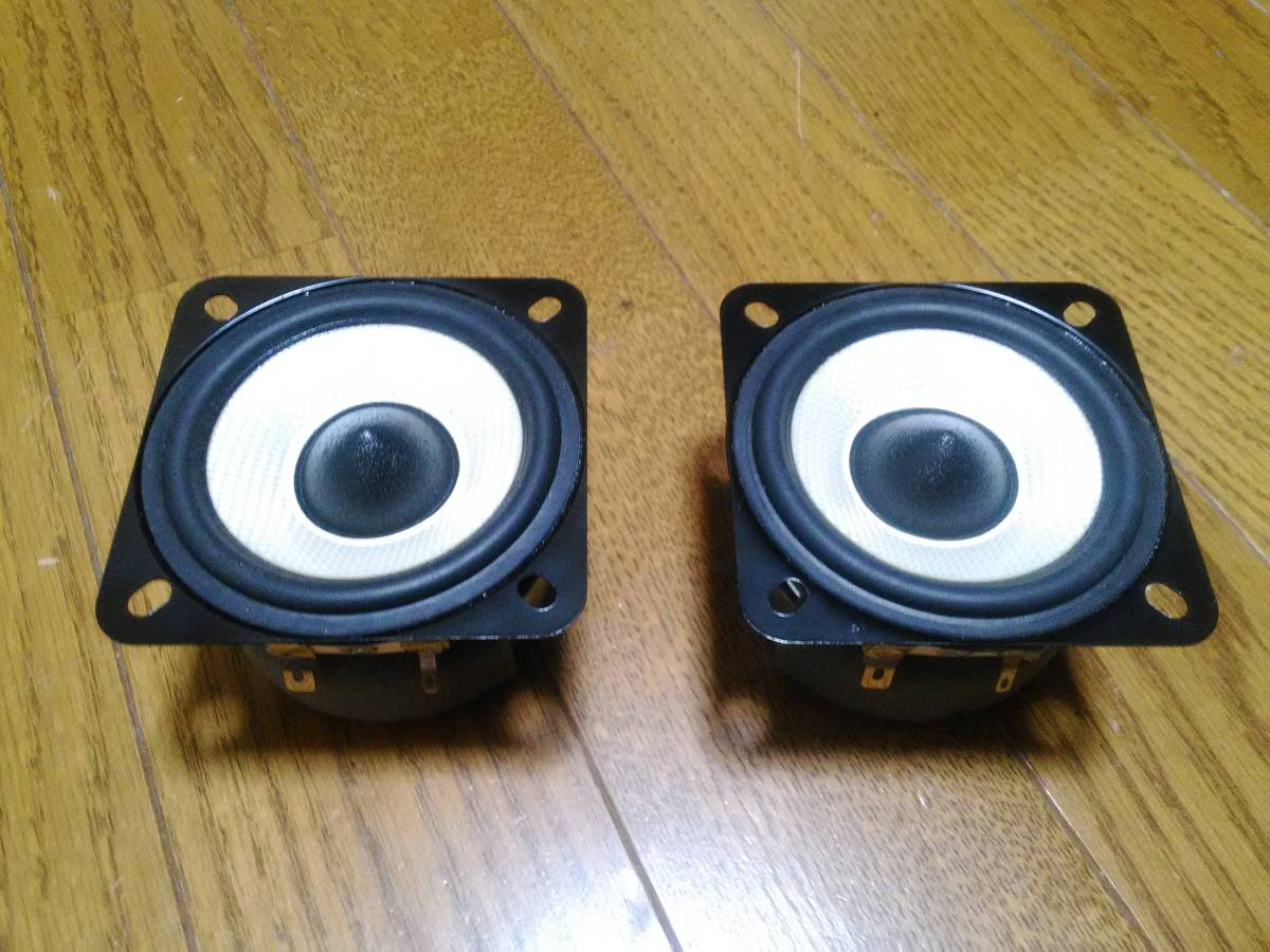 ONKYO A-OMFスピーカー8cmユニット 左右2個セット 自作スピーカーなどに 7.5w 10Ω PD8180Q A7425