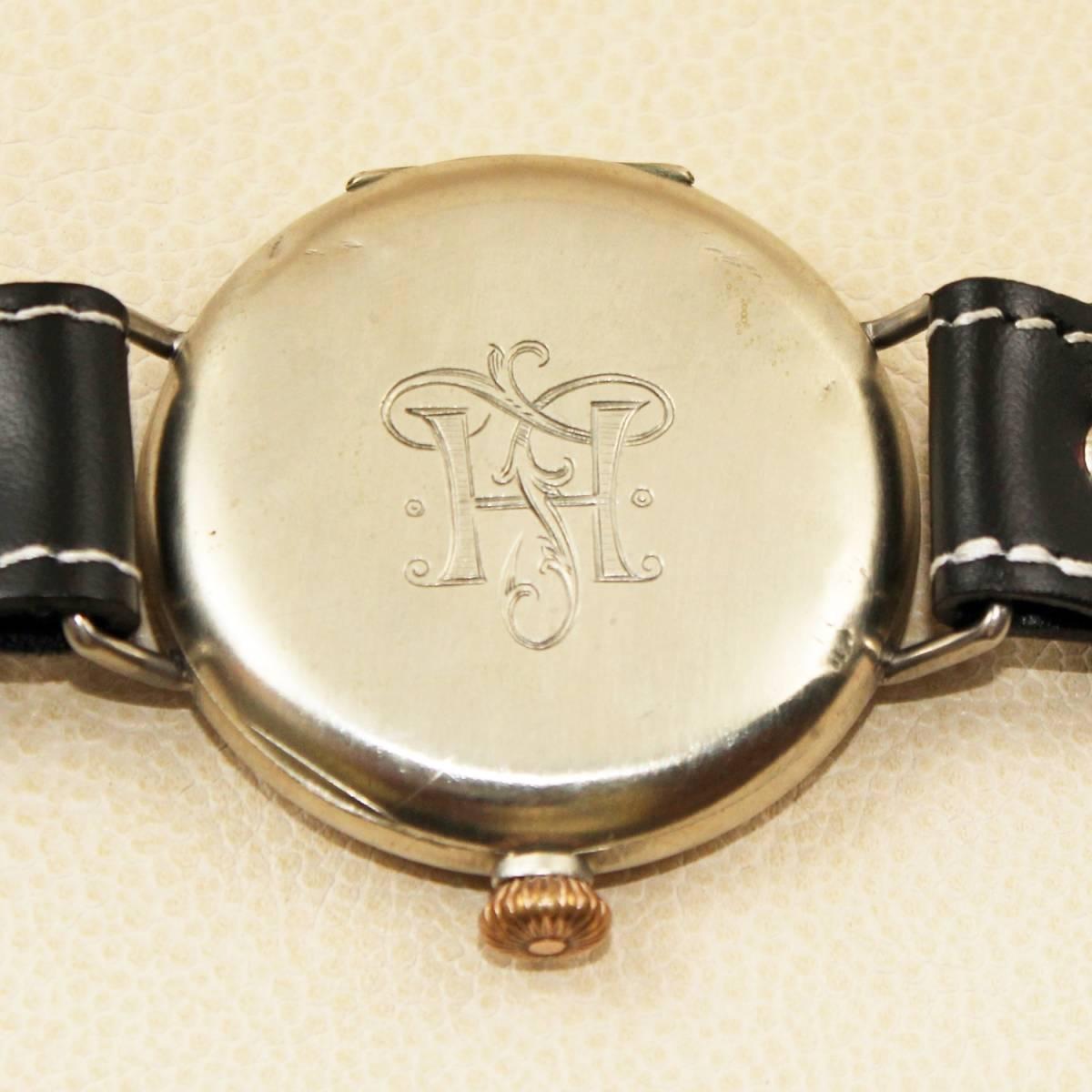 1円スタート【オメガ】OMEGAミリタリー WAFFEN ELITE M-B アンティーク手巻きメンズ腕時計 1930年代ヴィンテージ 懐中時計コンバート_画像7