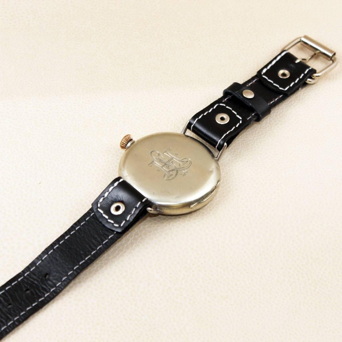 1円スタート【オメガ】OMEGAミリタリー WAFFEN ELITE M-B アンティーク手巻きメンズ腕時計 1930年代ヴィンテージ 懐中時計コンバート_画像6