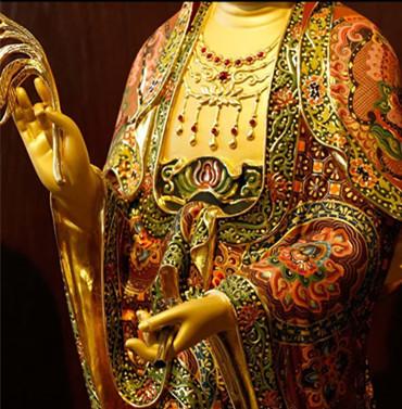 希少新品推薦!西洋三聖仏像 三尊立像 純銅製手工精巧細工工芸品 貴重供養品 _画像4