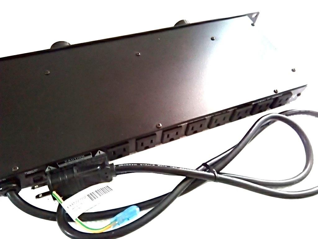 FURMAN 使用少 1U ラックマウント ライト モジュール付き パワーディストリビューター 電源 タップ 3ピン対応 8口 即決有り 管理番号FU_画像3