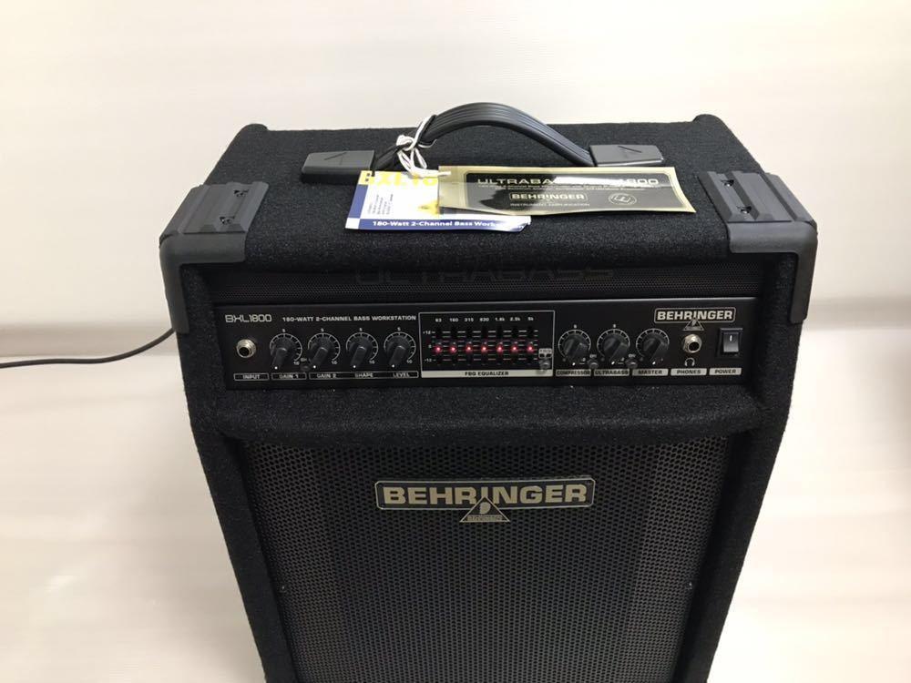 ベリンガー ベースアンプ ultrabass bxl1800_画像3