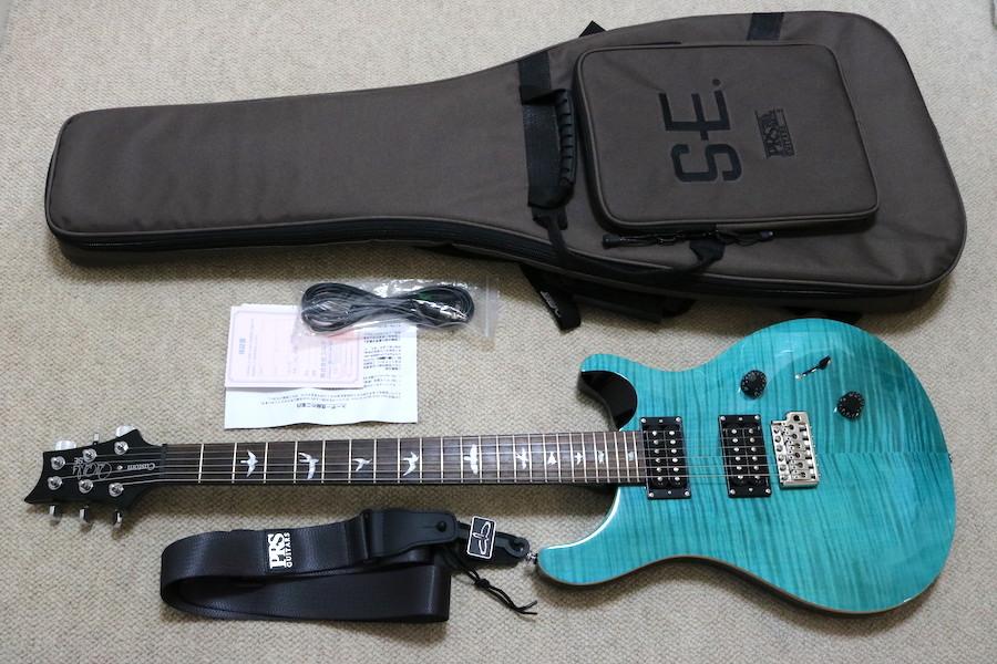 PRS PAUL REED SMITH ポールリードスミス ギター SE サファイヤ ストラップ付き ケース付き 2019年3月池部楽器プレミアムギターズ購入