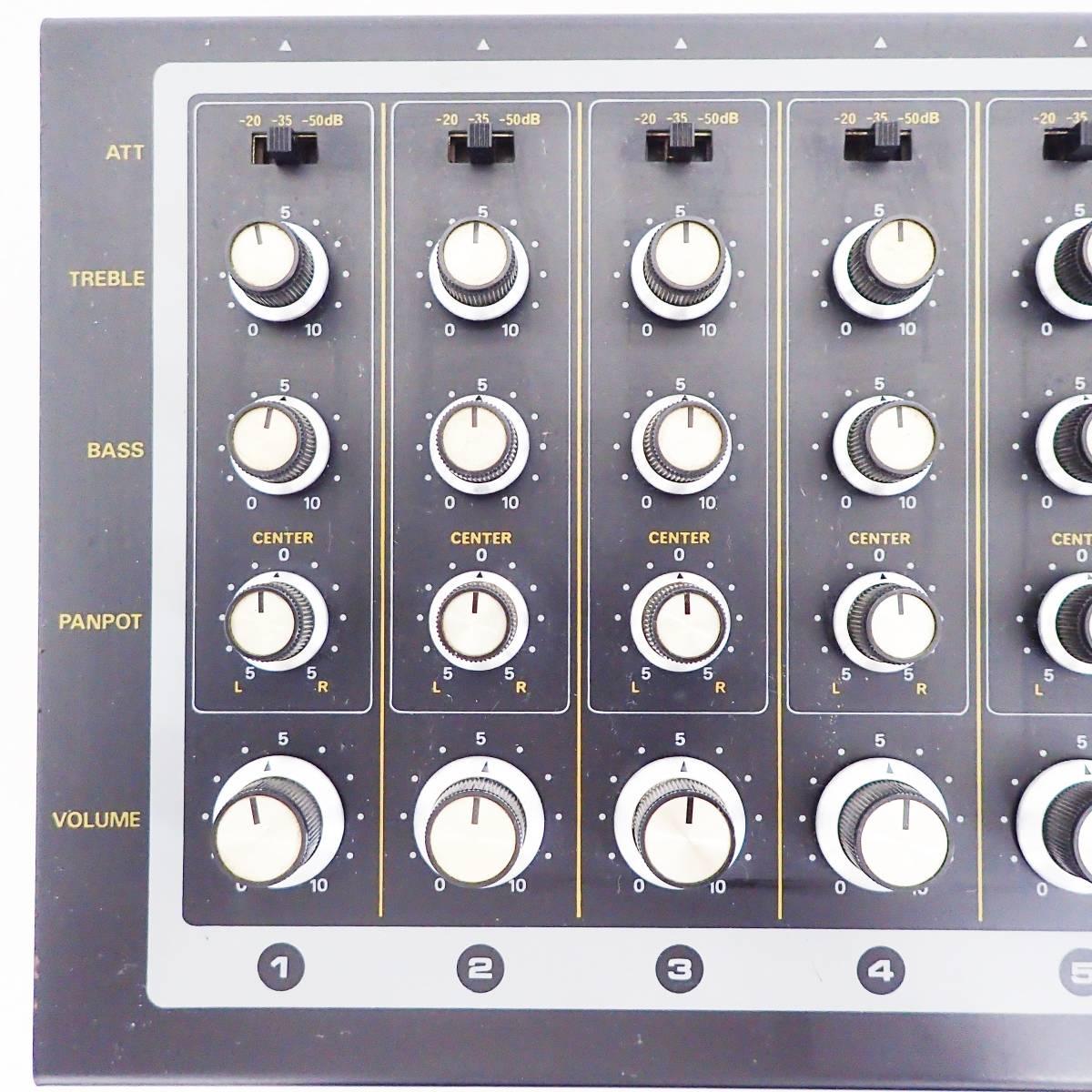 BOSS mixer KM-6A アナログ ミキサー Roland ローランド 通電確認済み  B01_画像9