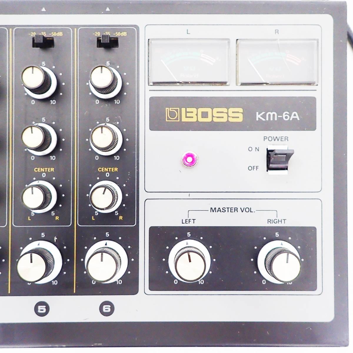 BOSS mixer KM-6A アナログ ミキサー Roland ローランド 通電確認済み  B01_画像8