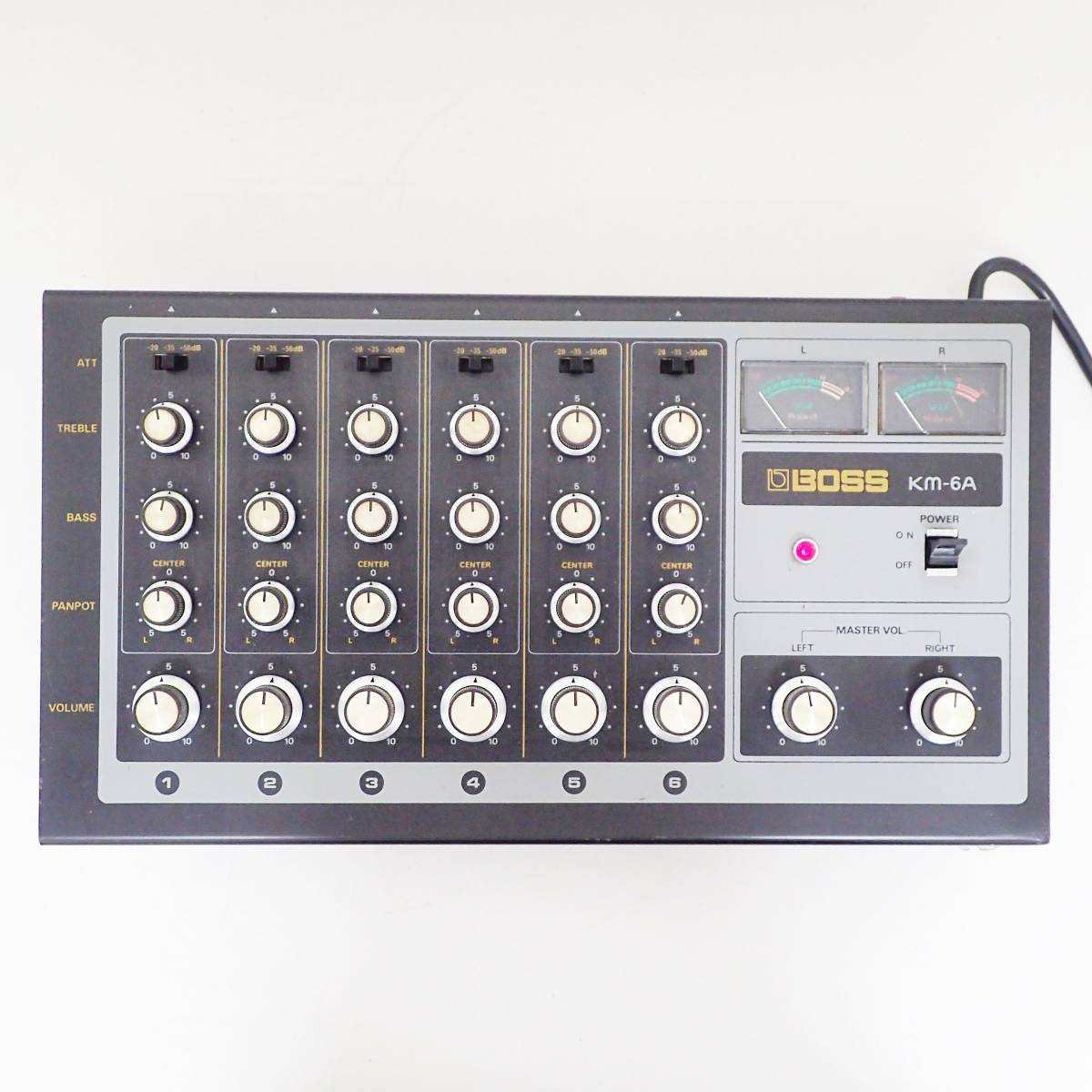 BOSS mixer KM-6A アナログ ミキサー Roland ローランド 通電確認済み  B01