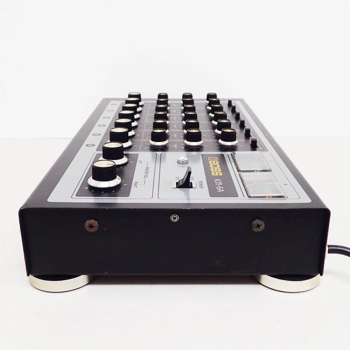 BOSS mixer KM-6A アナログ ミキサー Roland ローランド 通電確認済み  B01_画像6