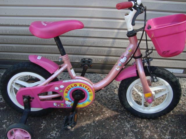 ☆★ks 子供自転車 補助輪付き ハローキティ ブリヂストン かご付き おしゃれ 幼児 引き取り可能