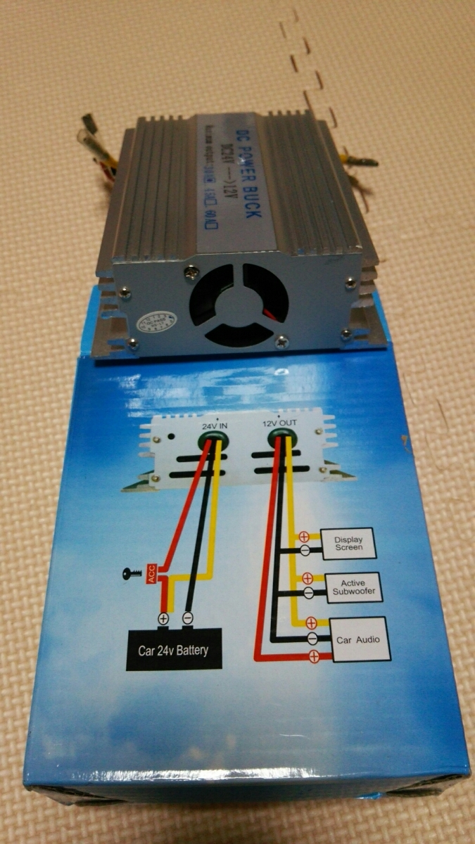DC/DCコンバーター30A24V→12V新品