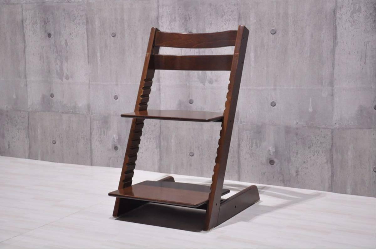 OS-J6Z 北欧 ノルウェー STOKKE ストッケ トリップトラップ ベビーチェア 子供椅子 ブラウン 検) ハイチェア イス 正規品 ダイニング_画像1