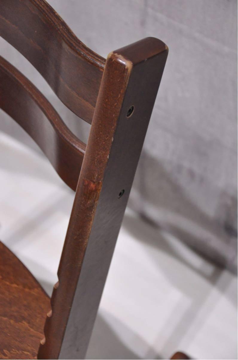 OS-J6Z 北欧 ノルウェー STOKKE ストッケ トリップトラップ ベビーチェア 子供椅子 ブラウン 検) ハイチェア イス 正規品 ダイニング_画像9