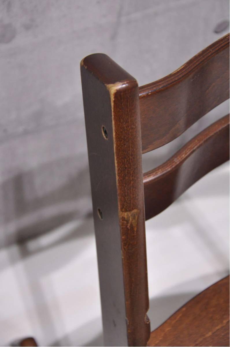 OS-J6Z 北欧 ノルウェー STOKKE ストッケ トリップトラップ ベビーチェア 子供椅子 ブラウン 検) ハイチェア イス 正規品 ダイニング_画像8