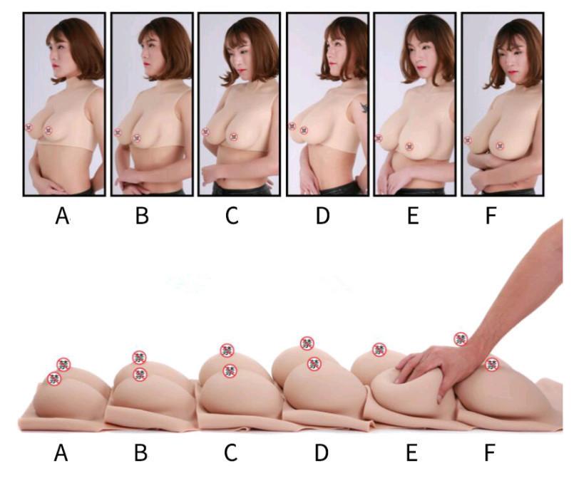新品Bカップ リアル シリコン バスト人工乳房COS女装 乳房の中身はシリコンsizeB~Eカップ_画像7
