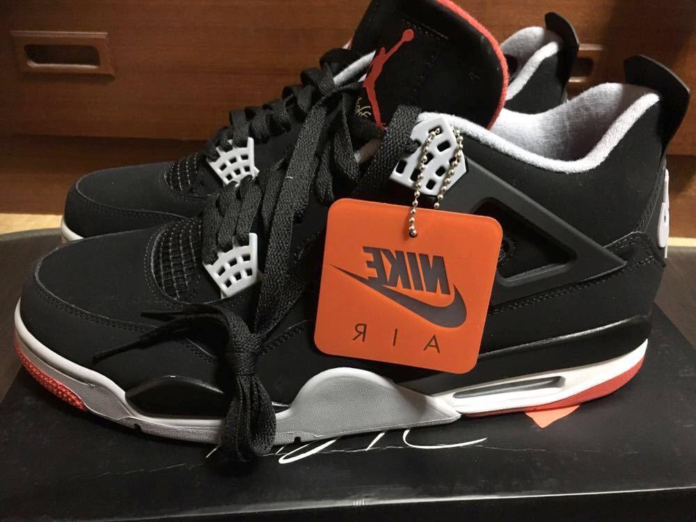 【Sneakersnstuff (SNS) オンライン抽選当選】NIKE AIR JORDAN 4 RETRO BRED ナイキ エアジョーダン 4 レトロ ブレッド 30cm_画像2