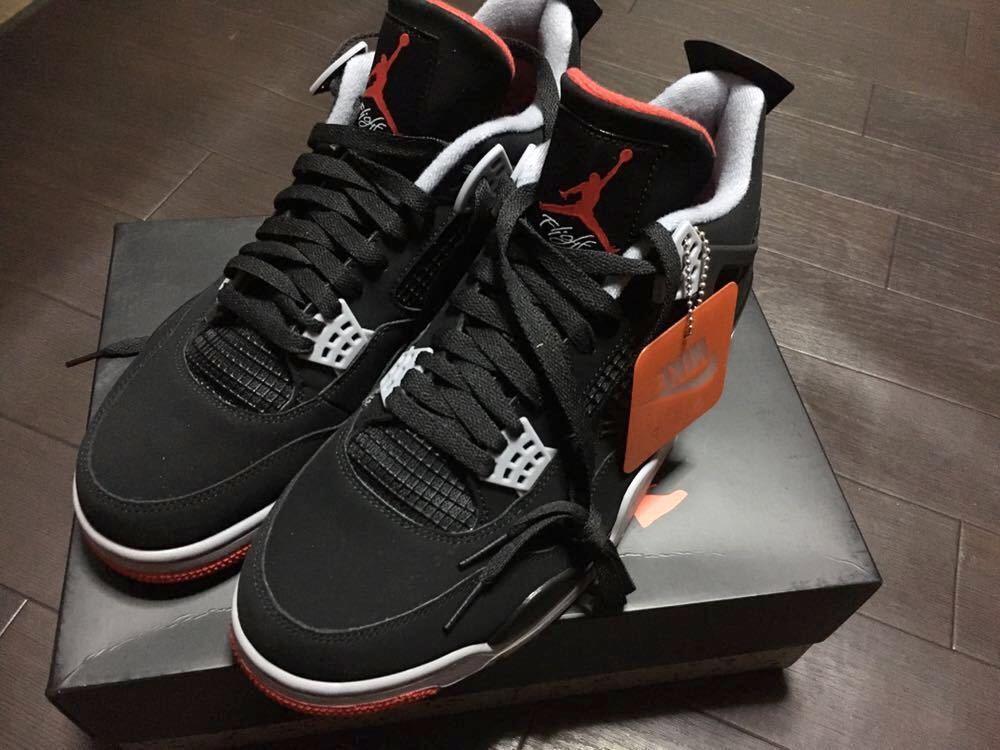 【Sneakersnstuff (SNS) オンライン抽選当選】NIKE AIR JORDAN 4 RETRO BRED ナイキ エアジョーダン 4 レトロ ブレッド 30cm