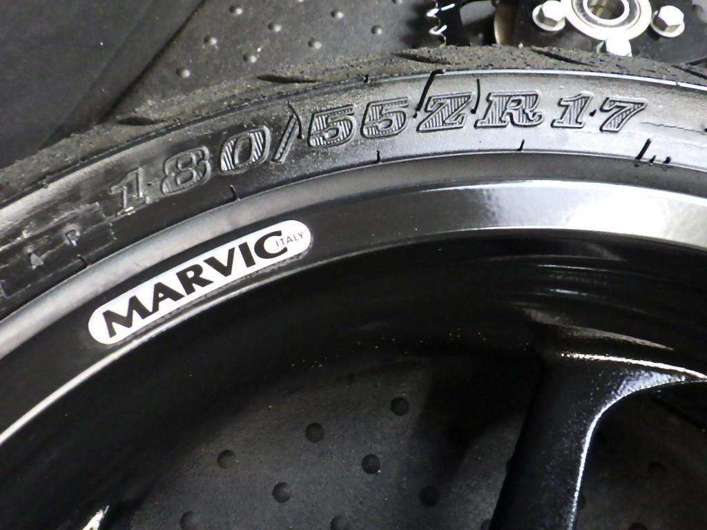 ビューエル X1 MARVIC リヤ リアホイール マービック ホイール 550×17インチ チェーンドライブ (検 Buell X1 ライトニング S1 S2 S3 S1W_画像2