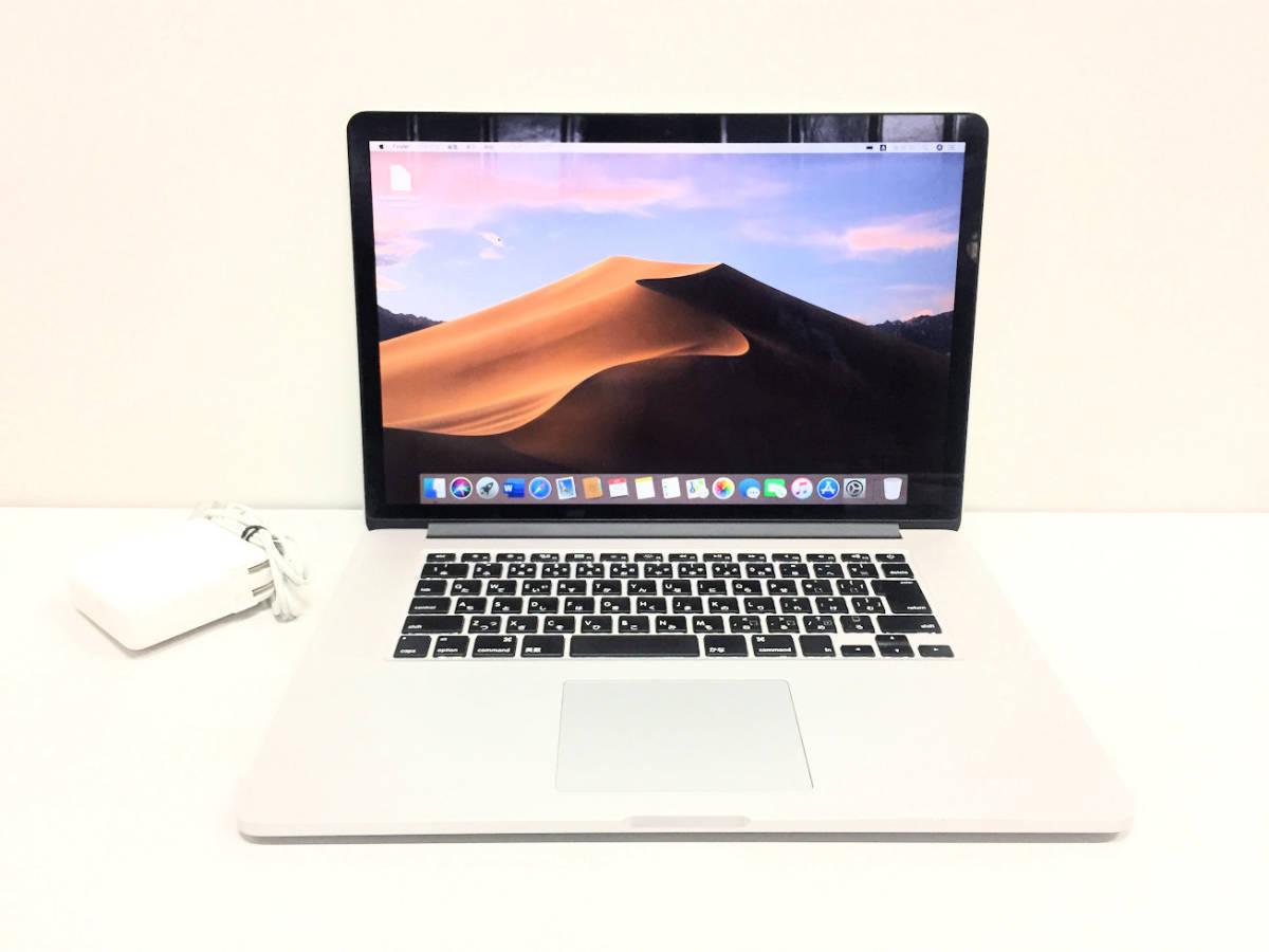 美品◆MacBook Pro Retina A1398◆I7 4770HQ 2.2GHZ◆Mid 2015◆16GB◆SSD 1TB