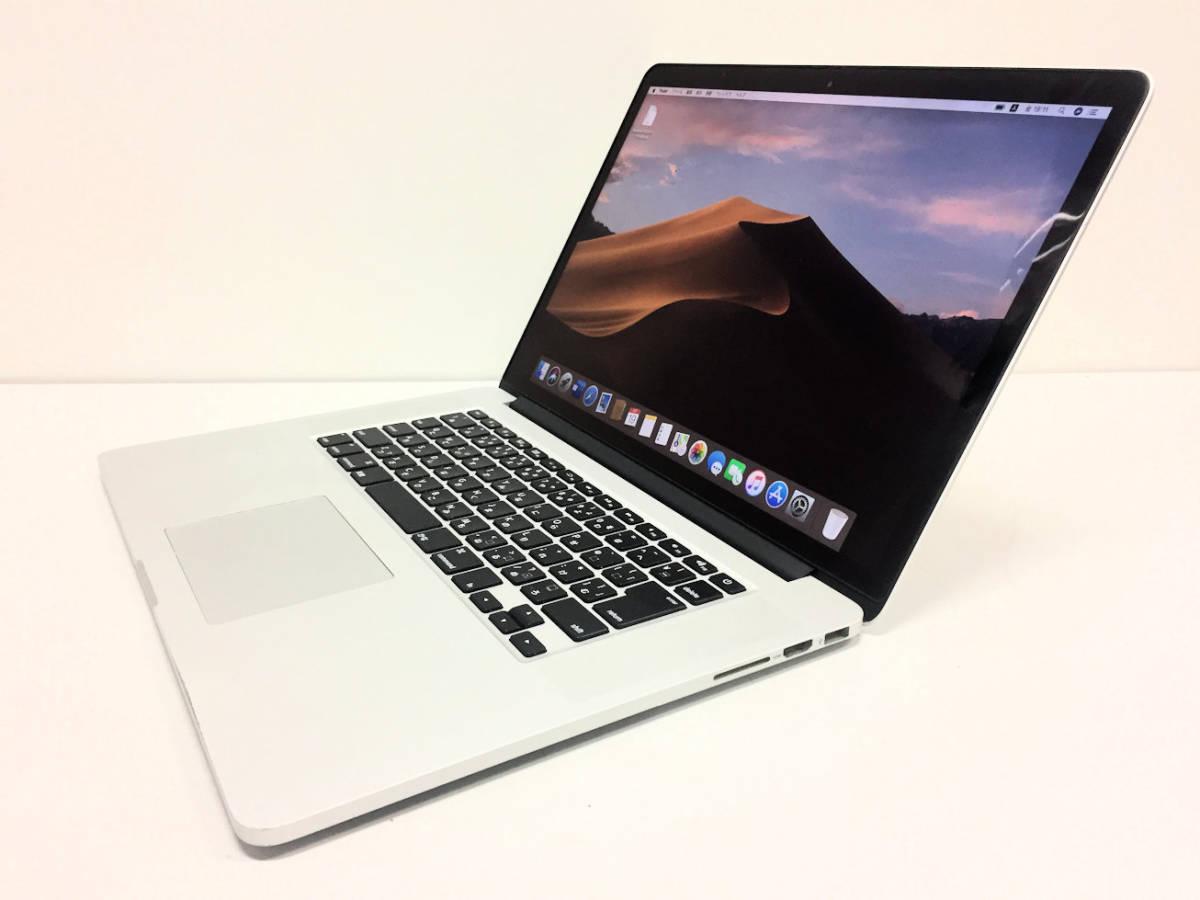 美品◆MacBook Pro Retina A1398◆I7 4770HQ 2.2GHZ◆Mid 2015◆16GB◆SSD 1TB _画像3