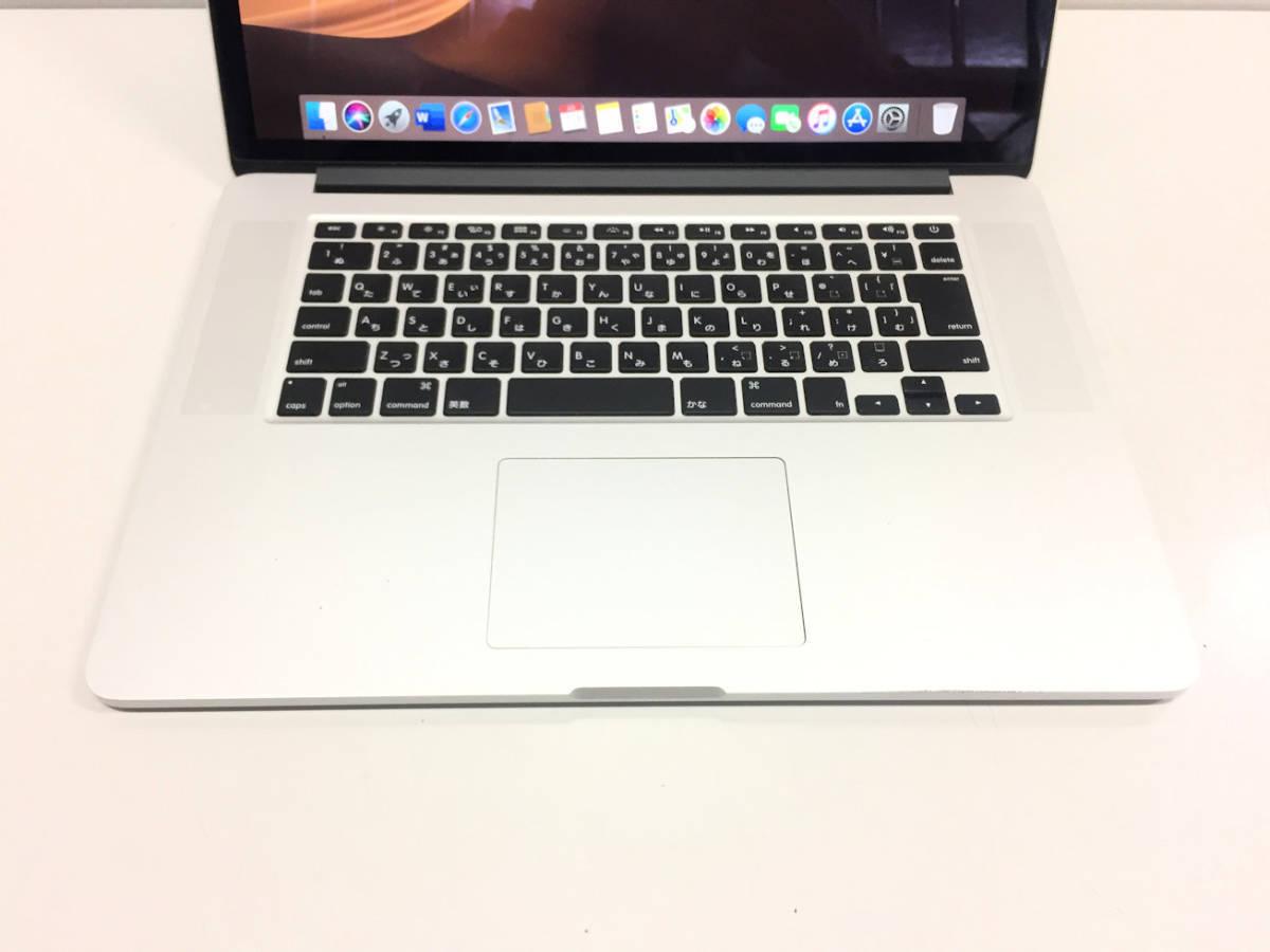 美品◆MacBook Pro Retina A1398◆I7 4770HQ 2.2GHZ◆Mid 2015◆16GB◆SSD 1TB _画像4