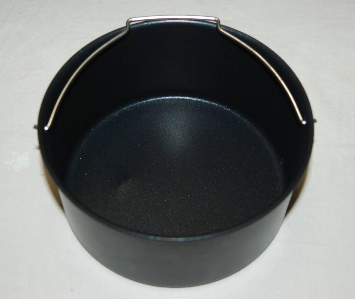 ほぼ未使用品 ショップジャパン カラーラ 熱風揚げ物調理機器 ノンフライヤー ノンオイルフライヤー Karalla 専用丸型鍋+レシピ付き_画像9