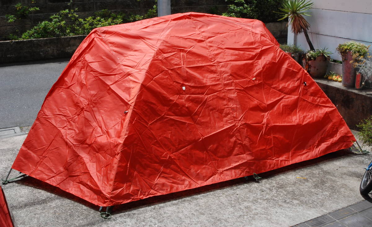 ダンロップテント DUNLOP 山岳 登山用テント3~4人用 V400+V400S 冬用外張り 4シーズン使用可 当時物カタログ付き V-400+V-400S_画像5